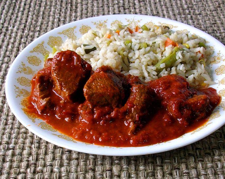 Res en guajillo un guiso casero de sabor ultra mexicano - Guiso de carne de cerdo ...
