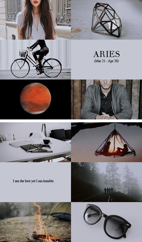 Zodiac Aries: Aries Zodiac Sign Aesthetic Collage | #Zodiac #Aries #Astrology