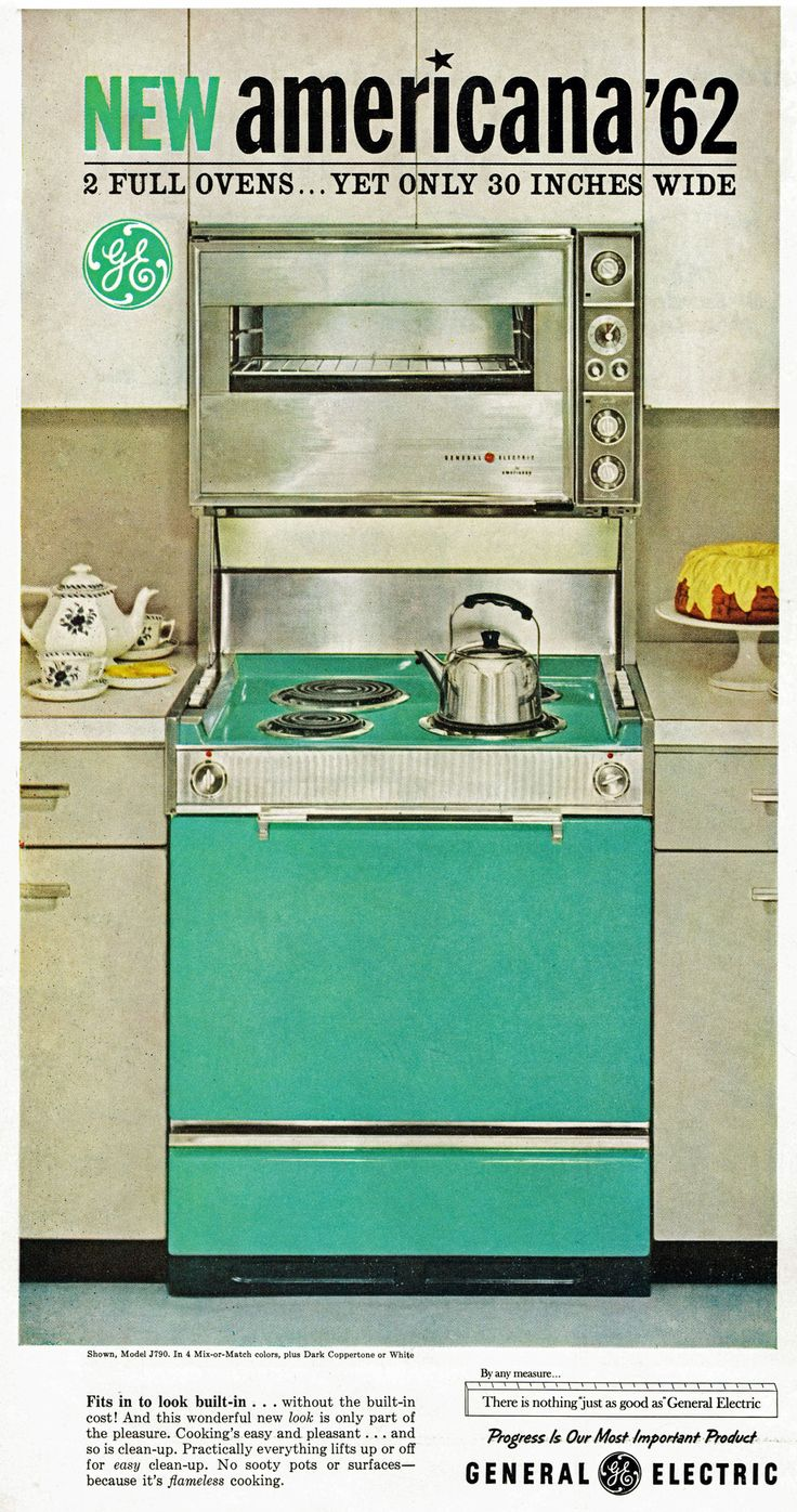 General Electric GE New Americana '62 - turquoise stove... and it is perfect!
