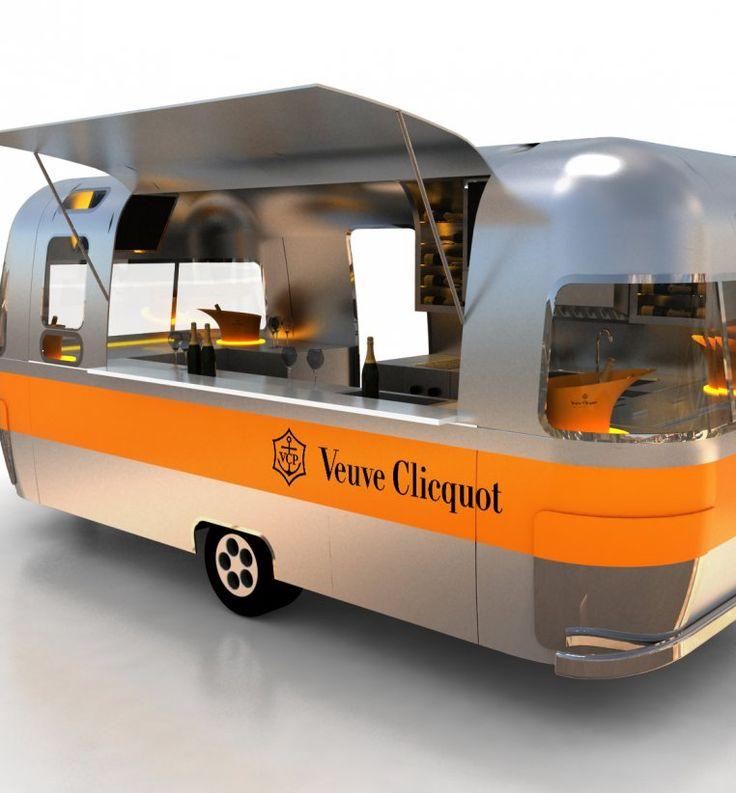 Veuve Clicquot pop up caravan JUICE