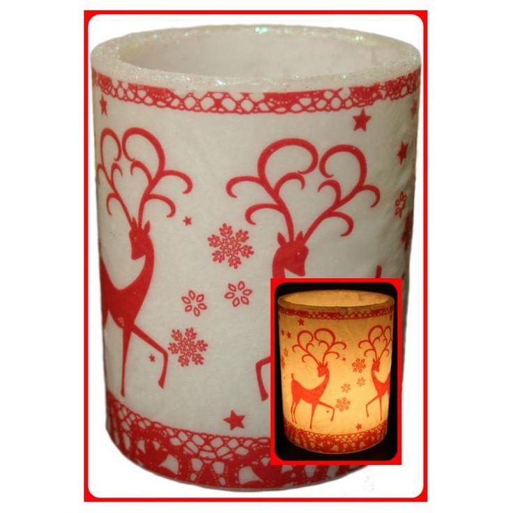 LAMPION Z MOTYWEM BOŻE NARODZENIE L17 - HURTOWNIA ŚWIEC, PODGRZEWACZY - świece, podgrzewacze i olejki zapachowe