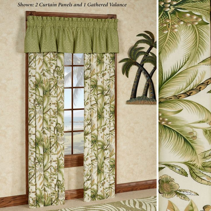 barbados sand table linens | Home Window Themed Curtains Barbados Sand Tropical Window Treatment
