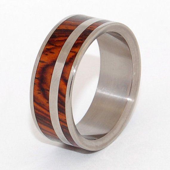 Trauringe, Titan Ringe, Holz Ringe, Herren-Ringe, Eheringe Titan, Eco-Friendly-Trauringe, Eheringe - ja KEZ SIRUMEM