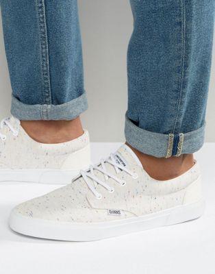 Djinns Nice Linen Sneakers In White