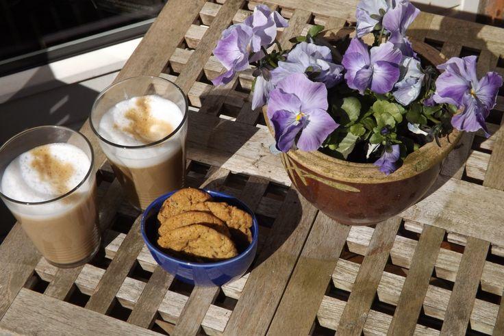 Cookies til en pause på terrassen
