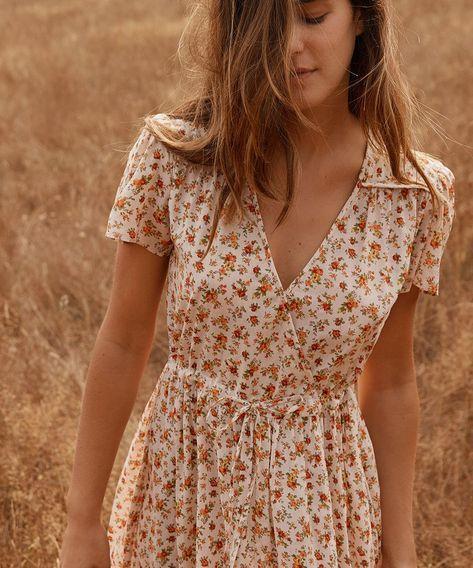 1eb79efe25fc The Dawn Dress   Fall Calico (Cotton) in 2019   Style   Kläder, Klänningar,  Kjol