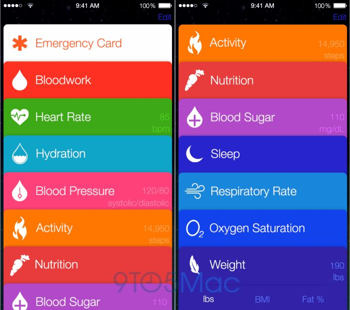 This is Healthbook, Apple's major first step into health