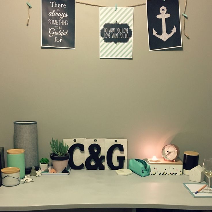 My study desk, Kmart, big W, Typo & Target finds. Etsy prints. Concrete from #shylo