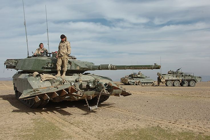 Canadian Leopard C2 (1A5) with Mine Plough in Afghanistan