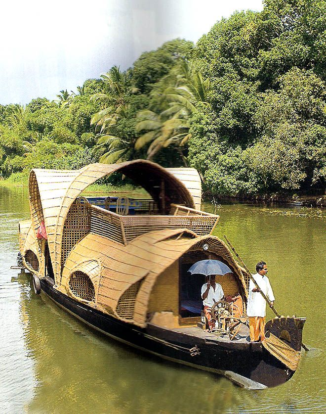 Kerala houseboat - a dream for me, even here in the PNW. I picture a few of these rolling through Eastern WA rivers.