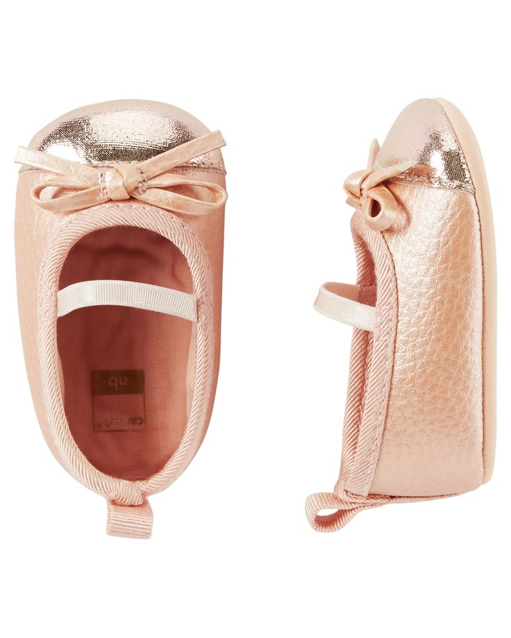 Baby Girl Carter's Ballet Mary Jane Crib Shoes | Carters.com