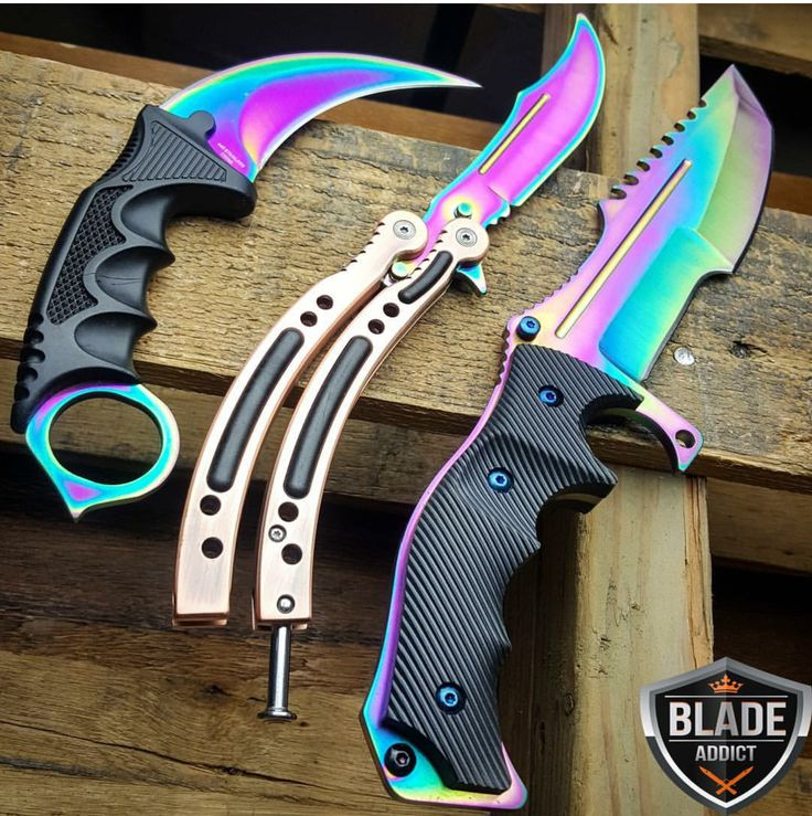 CS:GO Huntsman Butterfly Karambit Hunting Knife SET Counter Strike CSGO Collectors