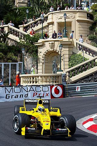 Giorgio Pantano (ITA) Jordan Ford EJ14. Formula One World Championship, Rd 6, Monaco Grand Prix, Qualifying Day, Monte Carlo, 22 May 2004