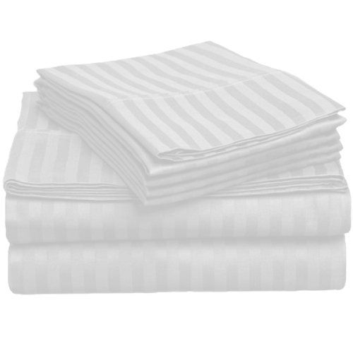 American Pillowcase - Luxury King Size Bed Striped Sheet Set Review (August…