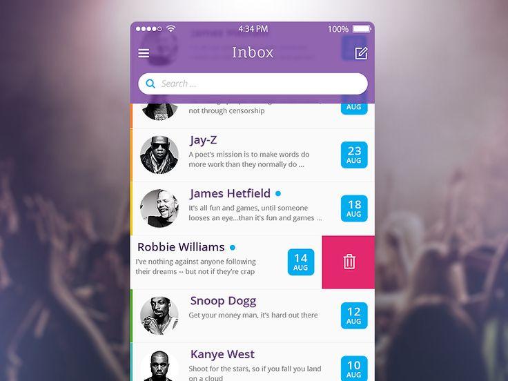 Mail iOS - by Pasha Gonchar   #ui #ios