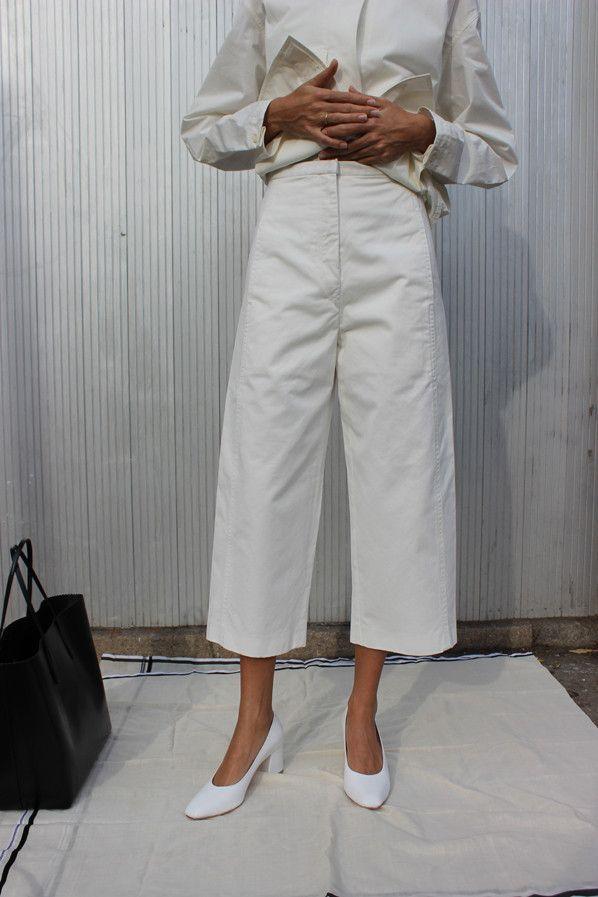 3/4 PANTS, WHITE