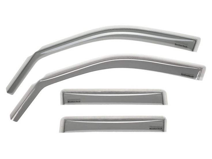 WeatherTech 1996-2001 Oldsmobile Bravada/ 1995-2001 GMC Jimmy/ 1995-2001 Chevrolet Blazer Front and Rear Side Window Deflectors - Light Smoke