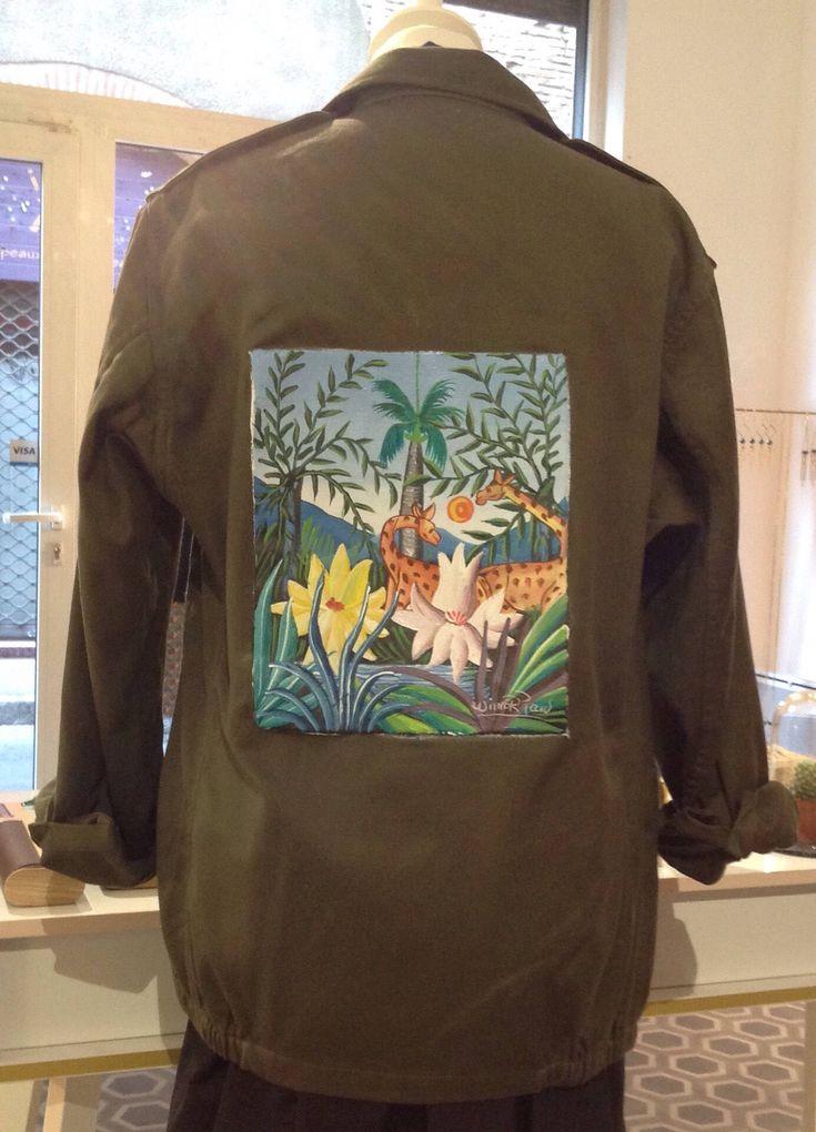 Le chouchou de ma boutique https://www.etsy.com/fr/listing/554131972/veste-militaire-kaki-peinte-par-peintre