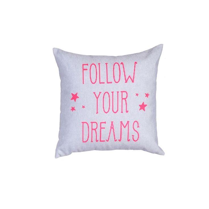 Μαξιλάρι Διακοσμητικό, σχ. Follow Your Dreams Fuchsia, Nef Nef