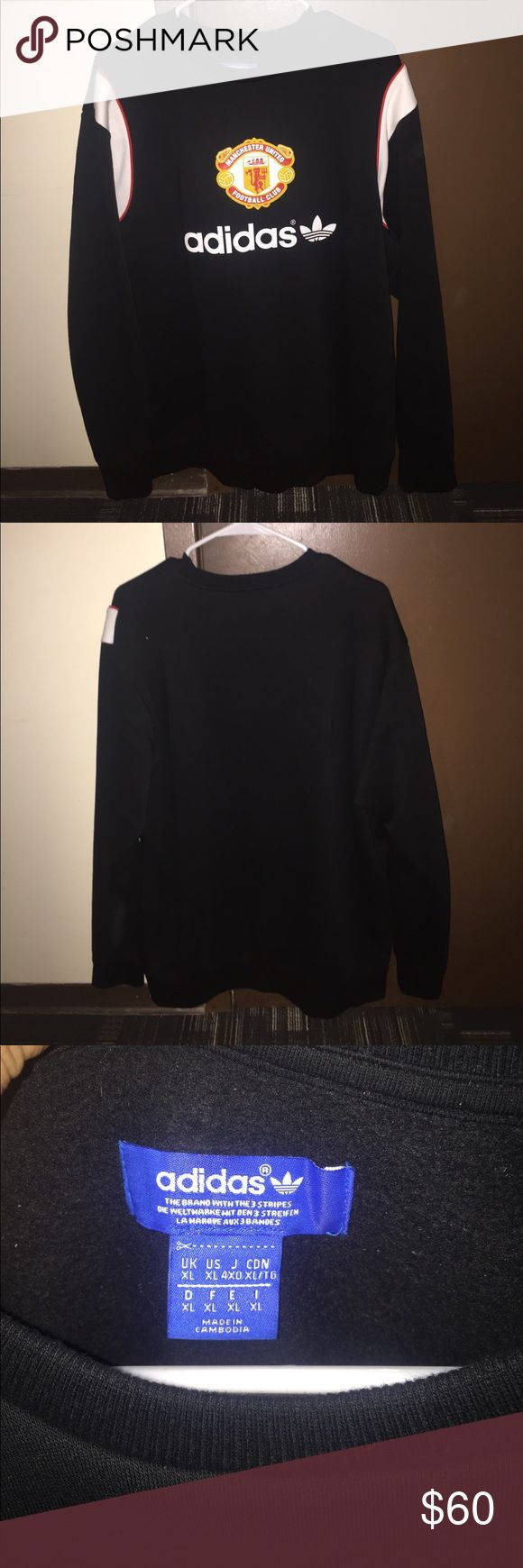 Adidas Manchester United sweatshirt Brand new, wore it once, Got it from soccersavings.com you will not find anywhere else Adidas Shirts Sweatshirts & Hoodies