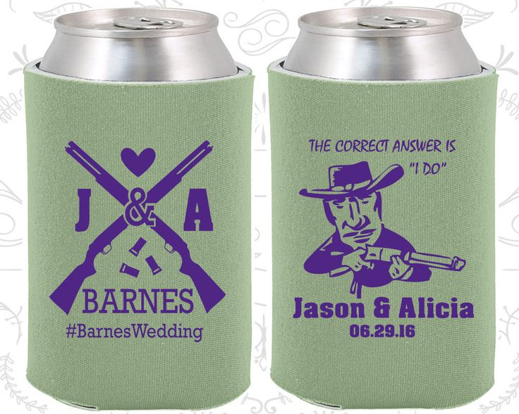 Shotgun Wedding Gift,Unique Wedding Gift, Country Wedding Gift, Southern Wedding Gift, Redneck Wedding Gift,  Wedding Favor Koozies (563)