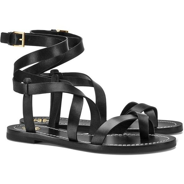 PATOS SANDAL ❤ liked on Polyvore featuring shoes, sandals, tory burch, tory  burch