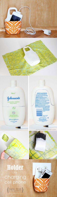 Handy Halter aus Shampoo-Flasche