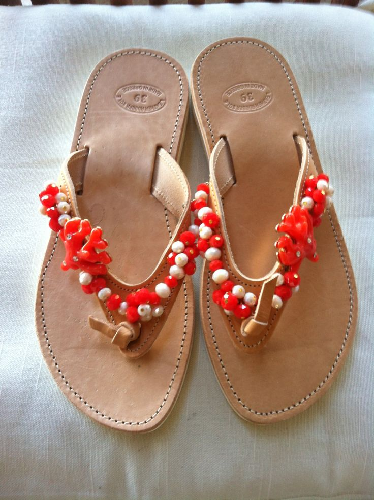 Handmade Genuine Leather Ladies Sandals by ScreationsGR on Etsy