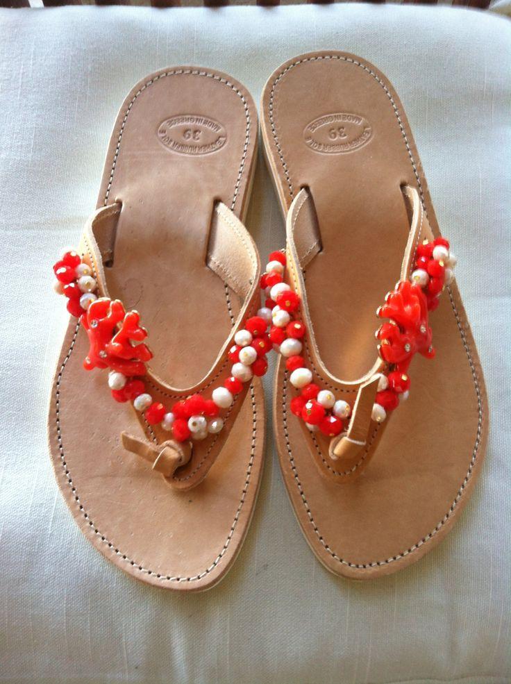 Handmade Genuine Leather Ladies Sandals by ScreationsGR on Etsy