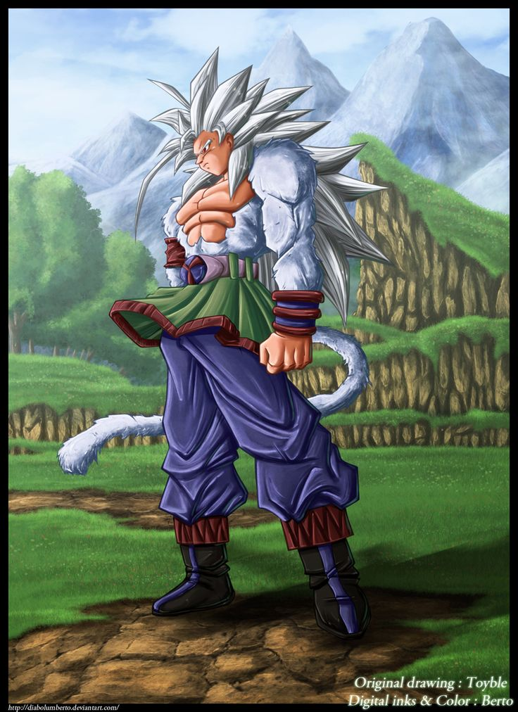 Son Goku : Dragon Ball AF SSJ5 by *diabolumberto on deviantART