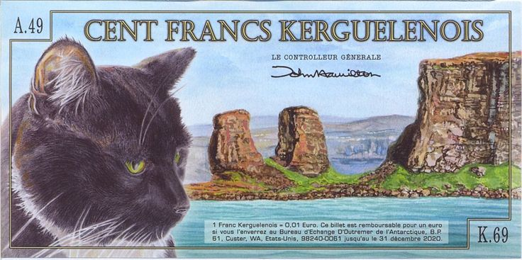 A banknote of the Kerguelen Islands