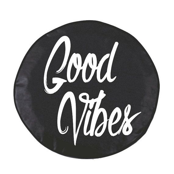 Good Vibes Spare Tire Cover Custom for Jeep by SemiRadical on Etsy
