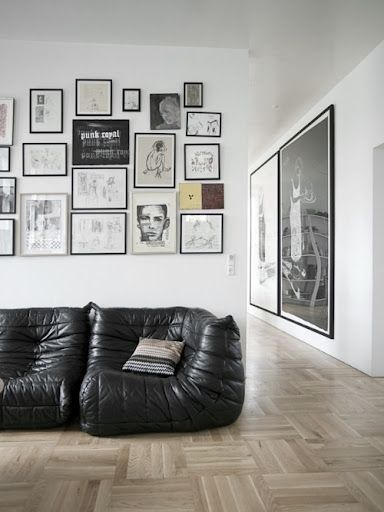 #togo sofa and picture wall