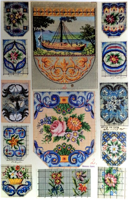 Berlin WoolWork Patterns For Victorian Beaded Purses 4