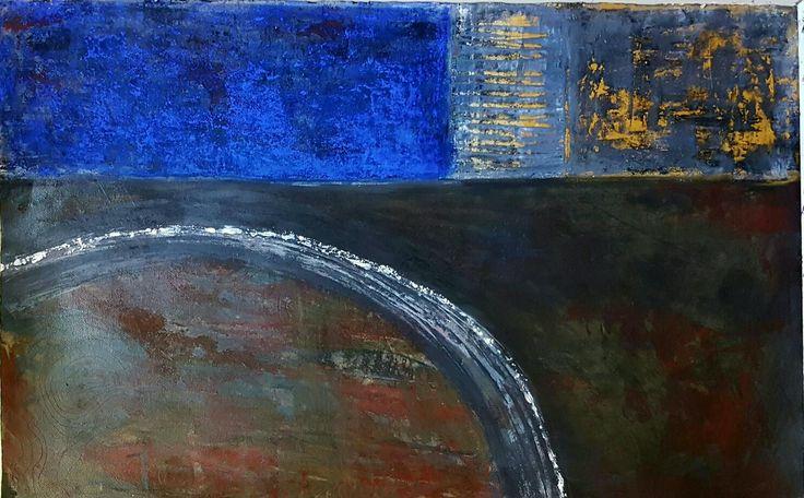 Acrylic and Pastel on paper 100×60cm David Toner