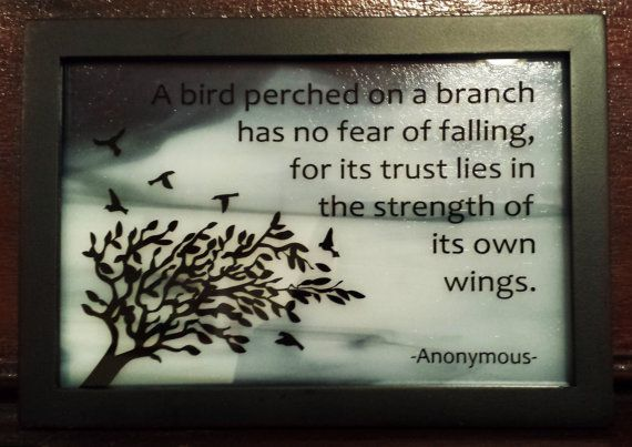 Framed quote etched on glass