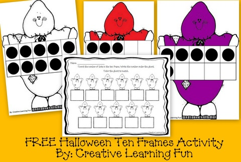 Halloween Ten Frames Activity - Pinned by @PediaStaff – Please Visit http://ht.ly/63sNt for all our pediatric therapy pins