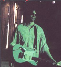 "Kurt Cobain's Sonic Blue Jag-Stang Guitar was given to R.E.M.'s Peter Buck by Courtney Love after Cobain died.  Buck can be seen playing it on ""What's the Frequency, Kenneth?"" music video."