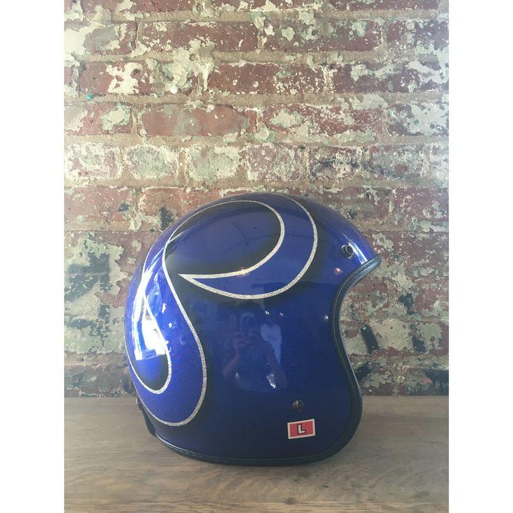 Vintage Fulmer Helmet, Blue/ Silver