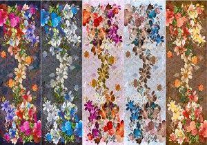 Fular en modal, motivos florales muy alegres.MIla Shön