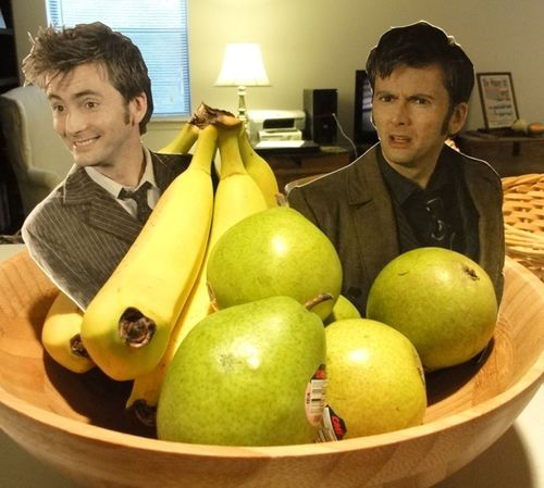 """""""My wife bought bananas and pears, so I left this for her."""""""