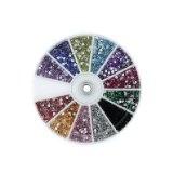 MASH Rhinestones 2400 Piece 12 Color Nail Art Nailart Manicure Wheels (Health and Beauty)By MASH