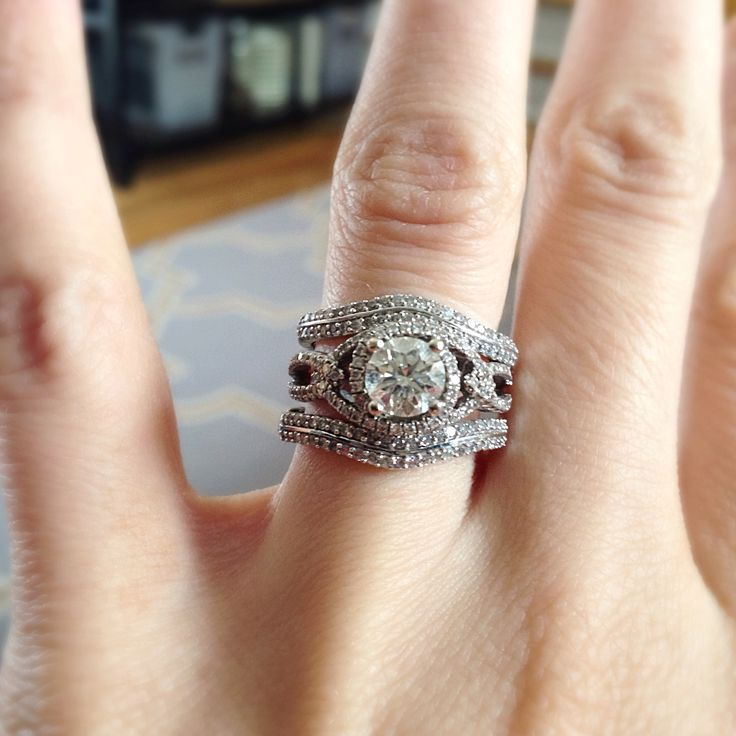 Double wedding bands-- vintage inspired wedding ring!
