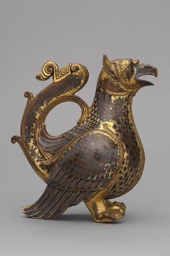 A c.twelfth-century Viennese griffin aquamanile.