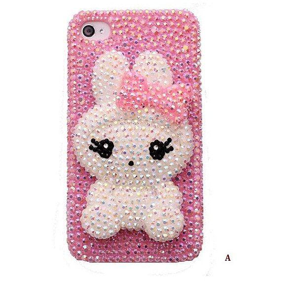 Joli lapin bricolage téléphone déco Den Kit & gratuit téléphone cas sur Etsy, 7,48€