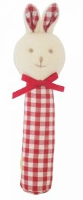 Cute red gingham bunny squeaker