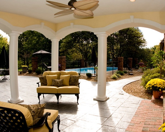 Outdoor Living Backyard Covered Patio Keystone Arched