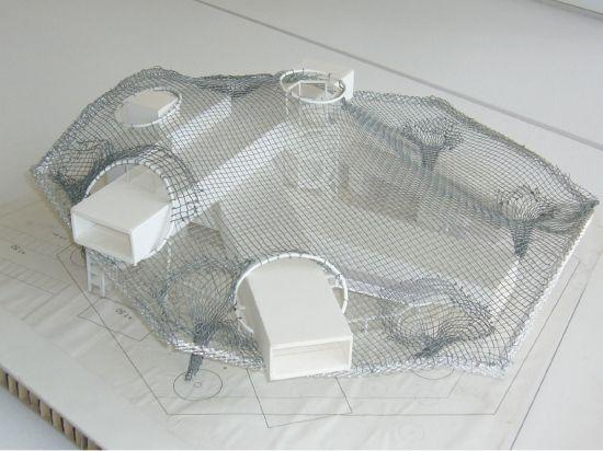 photos de la maquette du C.P.M. - Centre Pompidou/Quartier de l'Amphithéatre