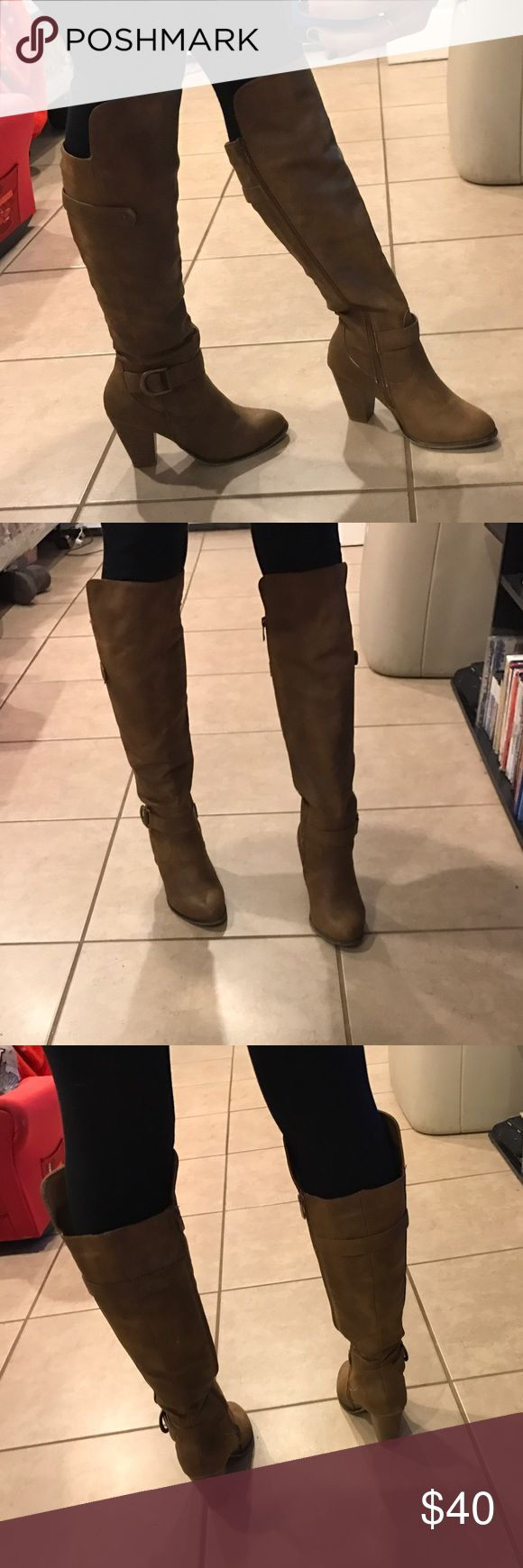 Tan knee high boots size 7. Tan knee high boots size 7. Accepting all reasonable offers. forever Shoes Heeled Boots
