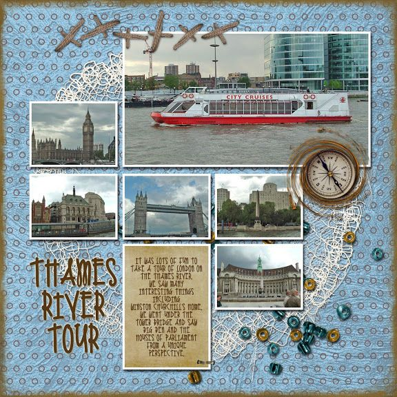 Scrapbook Pages london | Recent Scrapbook Pages: London - Thames River Tour